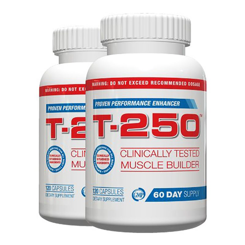 T 250 Muscle Building Supplement Fat Burner,120 Capsules