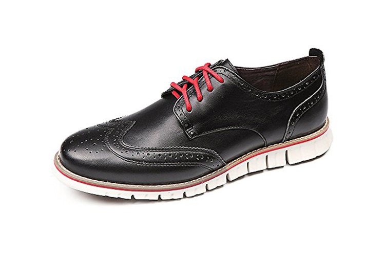 Laoks Men's Brogues Oxford Wingtip Genuine Leather Dress Shoes